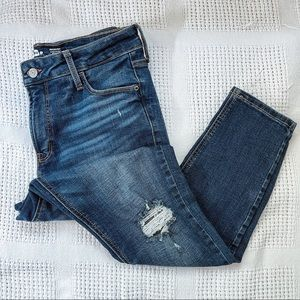 OLD NAVY   Super Skinny High Rise Distressed Jeans